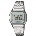 Unisex Stainless Steel Casio LA680WEA-7EF Chronograph Digital Grey Dial Watch